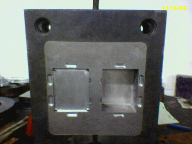 Tooling Inserts mounted in mold base