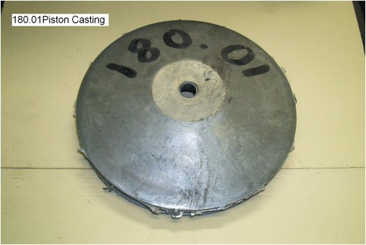 airplane piston casting